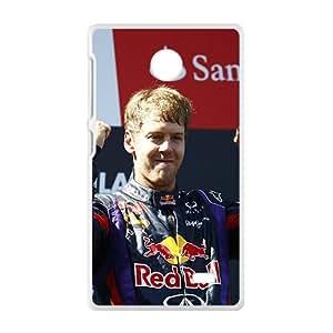Sebastian Vettel Red Bull White Phone Case for Nokia Lumia X