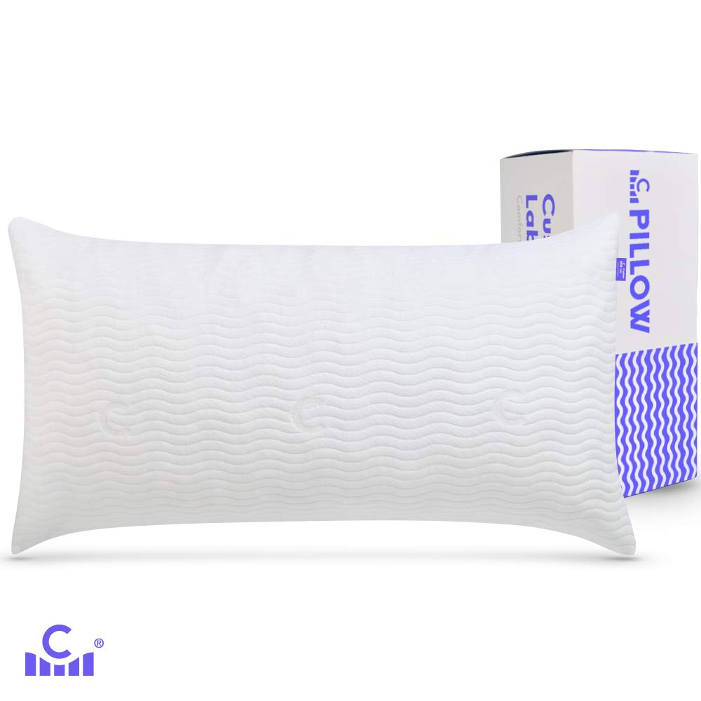 Cushion Lab Adjustable Shredded Memory Foam Pillow for Stomach Sleeper