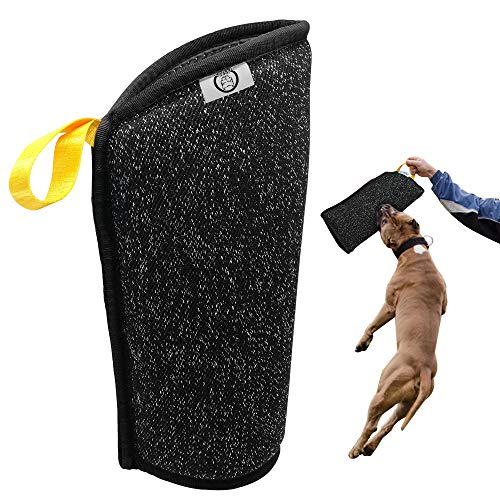 - PET ARTIST Puppy Bite Sleeves for Small Breeds Primary Bite Training,Small Dogs Training Biting Tugging Toy Fit Malinois GSD Puppy Black