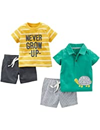Boys' 4-Piece Playwear Set