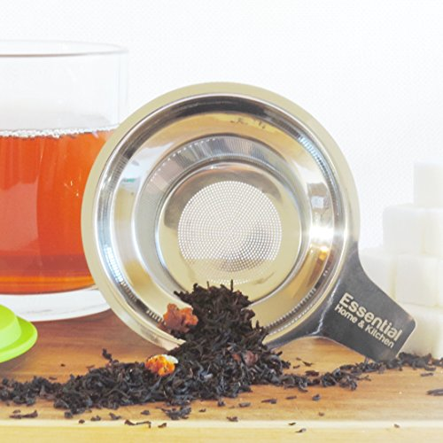 Best Loose Leaf Tea Infuser & Herbal Tea Steeper - Brews, Strains & Steeps Single Cup of Extra Fine Tea - Dishwasher Safe Silicone Top and Stainless Steel Tea Tumbler Basket & Infuser by Essential Home & Kitchen (Image #3)