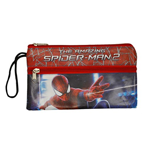 Deluxe Train Case (Marvel The Amazing Spider-Man 2 Brand New Fantastic Designed Multicolored Standard Size Durable Official licensed Kids Double Zip Pencil Case)