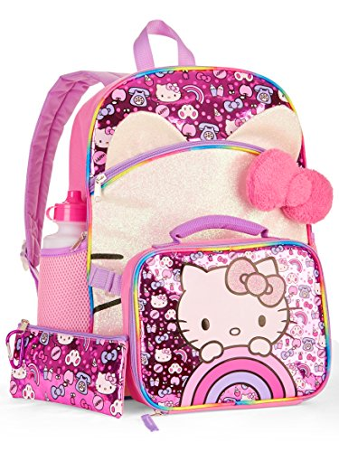 Hello Kitty 5-Piece Backpack Set With Lunch Bag ()