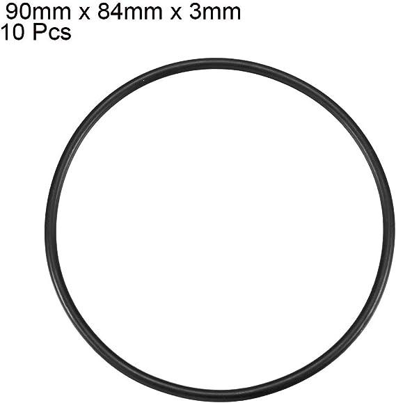 Metrisches O Ringe Schwarz Nitrilkautschuk 90 Mm Od 3 Mm Stärke 10 Pcs De Baumarkt