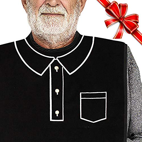 Classy Pal   Adult Bib for Men with Embroidered Design. Waterproof, Reusable & Washable (Polo) (Adult Towel Bibs)