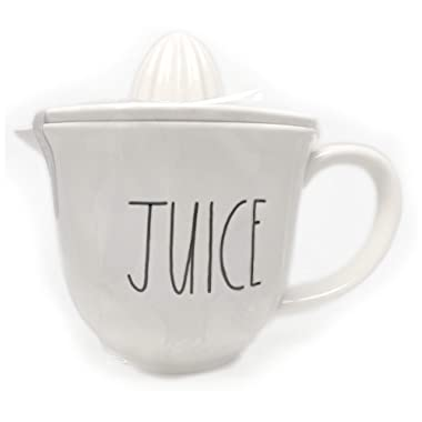 Rae Dunn By Magenta JUICE Large Letter LL Ceramic Juicer