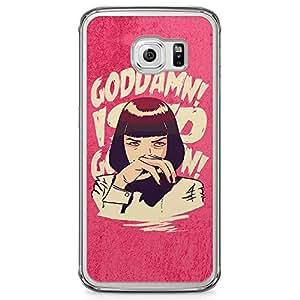 Loud Universe Pulp Fiction Quote Samsung S6 Edge Case Mia Wallace quote Samsung S6 Edge Cover with Transparent Edges
