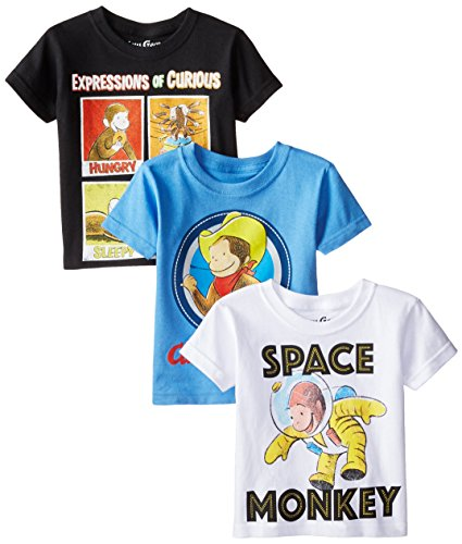 Curious George Toddler Boys' Value Pack T-Shirt Shirts, Assorted, 3T
