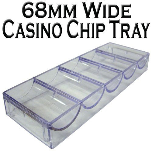Set of 10 Clear Acrylic Poker Chip Trays by Brybelly