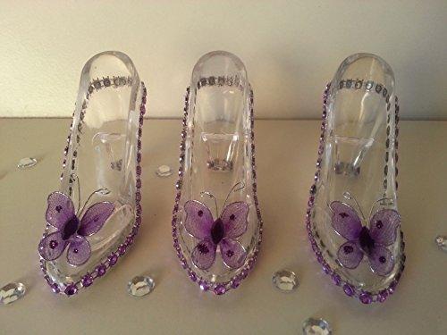 12 Fillable Cinderella Slippers Favors Birthday Sweet 16 Bridal Shower Wedding -
