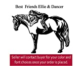 Horse pony vinyl wall quote saying kids room decor 27 X 24 inches