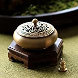 DW&HX [fine copper] incense aroma stove [antique] tea incense burners [decoration] gift-G