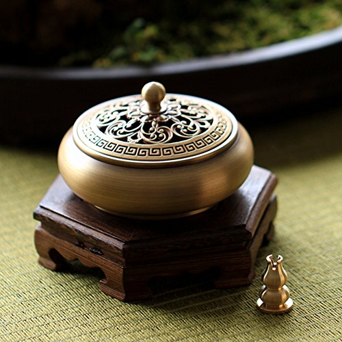 DW&HX [fine copper] incense aroma stove [antique] tea incense burners [decoration] gift-G by DW&HX