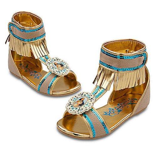 Disney Pocahontas Shoes for Girls Toddlers Dress Up (7-8) (Pocahontas Dress Up)