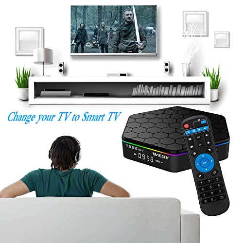 T95Z+ Plus Android 7.1 TV Boxcon 3GB RAM / 32 GB ROM Octa-Core 64 bits Media Player Resolución 4K 2.4/5 Ghz Dual WiFi 1000M LAN Bluetooth 4.0 Play Store: ...