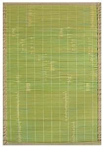 Anji Mountain AMB0070-0046 Key West Bamboo Rug, Green, 4 x 6-Feet