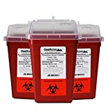 needle syringe sharp - 1 Quart Size (Pack of 3) | Sharps Disposal Container | OakRidge Products