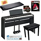 Yamaha P-125 Digital Piano - Black Bundle with Yamaha L-125 Stand,...