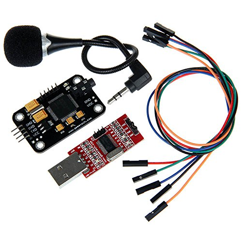 Geeetech High Sensitivity Voice Recognition Module with Microphone + USB to RS232 TTL Converter + Jumper wires for Arduino 4