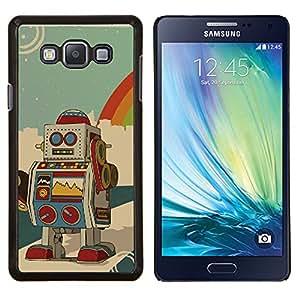 LECELL--Funda protectora / Cubierta / Piel For Samsung Galaxy A7 A7000 -- Robot Ai dibujo dibujos animados animación colorida --