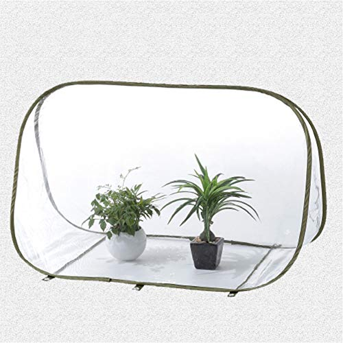 UKSAT Mini Greenhouse – Portable Folding Triangle PVC Plant Grow House with Clear Cover for Indoor Outdoor Garden Backyard