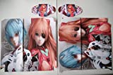 EBTY-Dreams Inc. - Sony Playstation 4 (PS4) - Neon Genesis Evangelion Anime Girl Asuka Langley Soryu Rei Ayanami Vinyl Skin Sticker Decal Protector