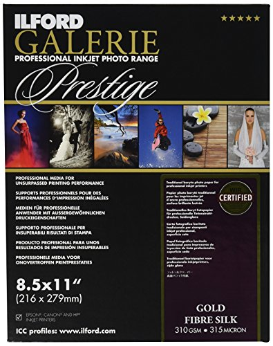 (ILFORD 2001766 GALERIE Prestige Gold Fibre Silk - 8.5 x 11 Inches, 50 Sheets)