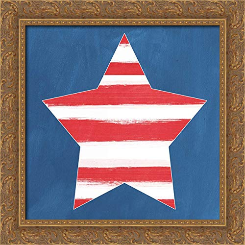 Star 20x20 Gold Ornate Wood Framed Canvas Art by Woods, Linda ()