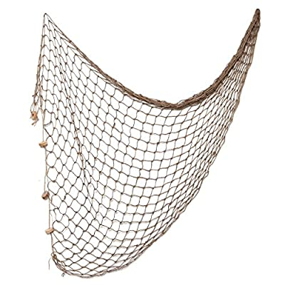 WINOMO Natural Fish Net Decor Mediterranean Style Decorative Fishing Net Party Accessory for Home Wall Photographing Decoration, 80x40 inch - Package Including: 1 Pcs Fishing Net Decorative Brown/Natural Fish Net Party Accessory The Decorative Fish Netting is Made of High Quality Cotton And Weaved by Handcraft. It is Durable for Long Time Use. Natural Fish Net suitable for Home, Beach Theme Party, Hotel, Guesthouse, Cafe, Bookshop, Home, Restaurant, ect. It would be better if you could decorating with some bright color of conch, life buoy, etc. - living-room-decor, living-room, home-decor - 51egvFYY5DL. SS400  -