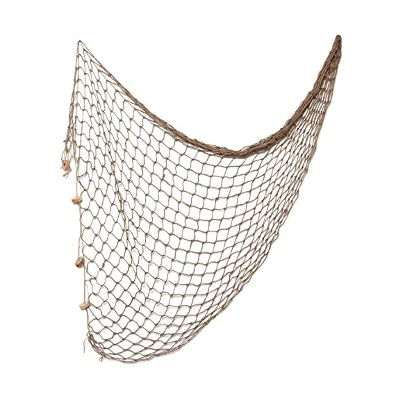 WINOMO Decorative Fishing Net Decor Natural Fish Net Party Decoration Fish Net Decoration for Wall Home Decoration… - Package Included: 1 Pack 80x40 Inches decorative fishing net (Dark brown). An ideal fish net party decoration for, your pirate party, Hawaiian party, Christmas party,etc. A great fishing net nautical decorations for home, beach theme/ocean themed party, guesthouse, wedding, etc. It would be better if you decorating with some conch, lifebuoy, etc. It will make the fishing net more creative to show the nautical atmosphere. The fish netting decoration is made of quality cotton which is durable for long time use. This Mediterranean style fishing net is suitable for sitting room, corridor, bedroom wall decoration. - living-room-decor, living-room, home-decor - 51egvFYY5DL. SS570  -