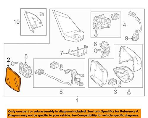 Honda 76203-SZT-307 - Espejo retrovisor derecho (Sr1000)