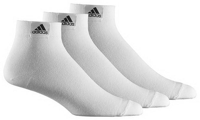 Adidas - Calcetines de Deporte - para Hombre Blanco Blanco Talla:47-50