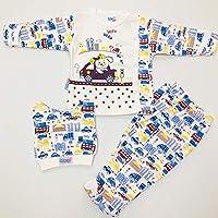 Erkek bebek%100 pamuk 0-3 ay kendinden eldivenli şapkalı takım