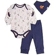 Baby Boys' Clothing Sets 3-Piece Bodysuit, Legging and Bandana Bib. Size 3-6 Month