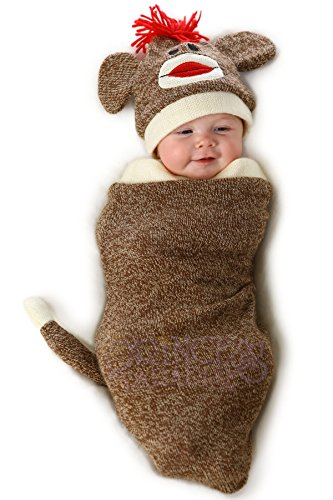 Princess Paradise Baby's Marv The Monkey Deluxe Costume Swaddle, As Shown, 0/3M -