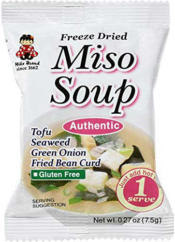 Miyasaka Freeze Dried Authentic Miso Soup, 0.27-Ounce (Pack of 12)