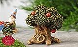 Rustic Miniature Woodland Fairy Apple Tree Garden Statue Mini Dollhouse Decor