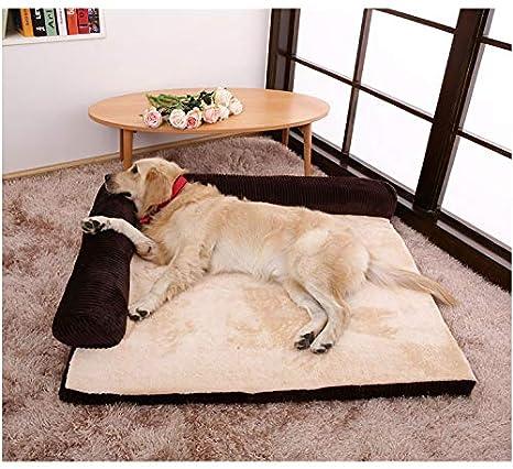 Cama perro Camas para Perros pequeñas, sofá Cama ortopédico Indestructible para Mascotas con Funda Lavable y Parte Inferior Antideslizante (Color : Brown, ...