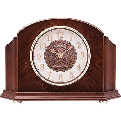 Y-Hui el Reloj en el Salón Dormitorio Oficina Reloj de sobremesa de Madera Sólida Todo el Punto de cronometraje,Relojes de Madera 21cm 10 repeticiones de ...