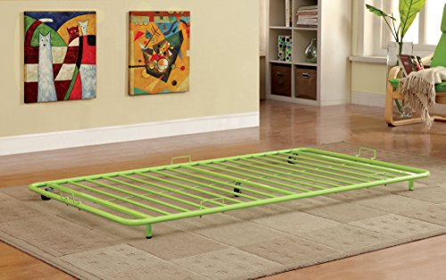 Furniture of America Newton Metal Twin Trundle, Apple Green by Furniture of America