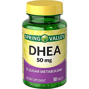 Spring Valley DHEA 50mg Dietary Supplement 50 Tablets Sugar Metabolism Vitality