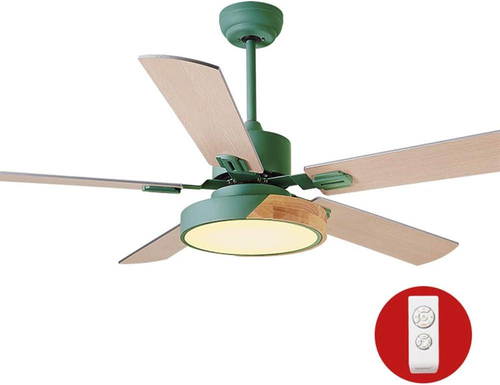 Luz de ventilador de techo de madera ligera 5 hojas de la lámpara ...