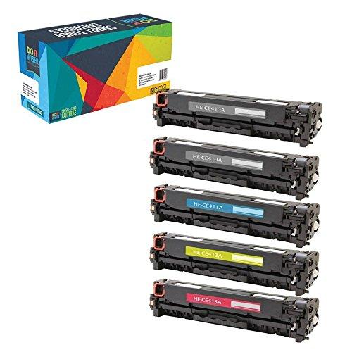 Do it Wiser Compatible Toner for HP Laserjet Pro M451dn M451dw M451nw MFP M475dn MFP M475dw MFP M375nw - CE410X CE411A CE413A CE412A - 5 Pack