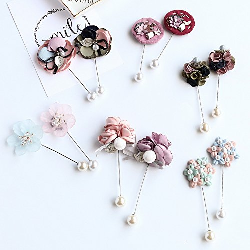 I left the flower corsage ornament of clothes pin simple towel a new country brooch decorated Korean female silk dress with bead products Jane]()