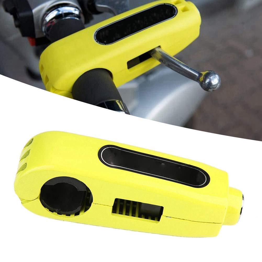 Yellow Roller und ATVs Edelstahl Motorrad Bremshebelschloss Gasgriff Diebstahlsicherung Schloss Universal f/ür Motorrad Lenkerschloss