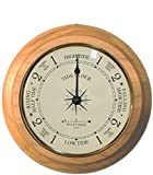 """9"""" Tide Clock with Convex Glass Lens and Oak Base by West and Company"""
