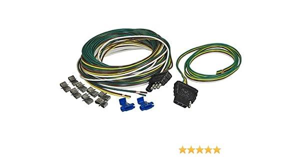 amazon com: trailer wiring kit with 4-flat plug (7105) 25 ft : automotive