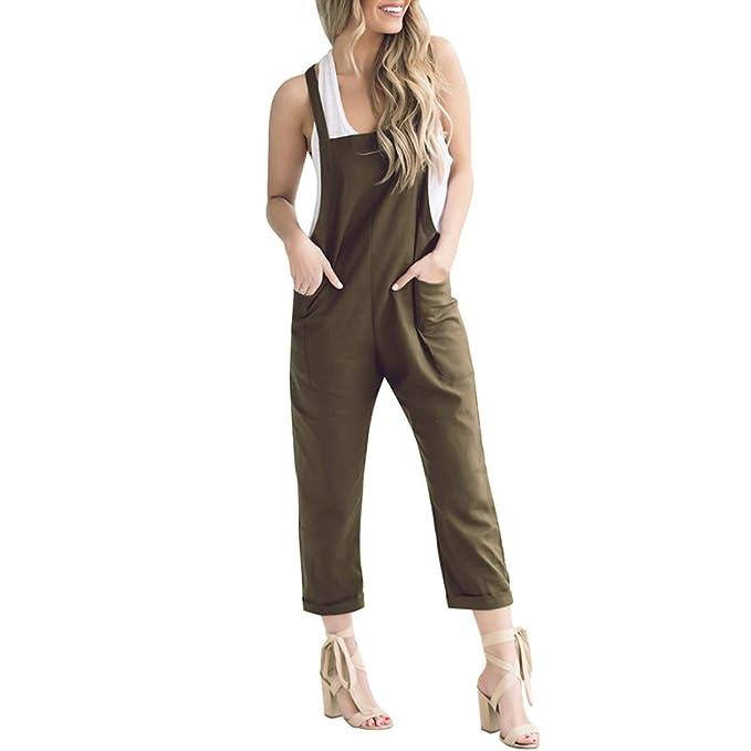 40d43164bbc8 Btruely Jumpsuit Damen Sommer Elegant Overall Lange Romper  LockerMiniplaysuit Bodycon Strandkleidung Sexy Bodysuit Vintage Latzhose (
