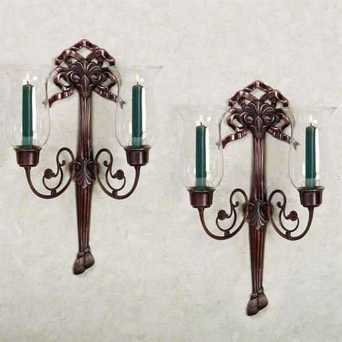 (Flythe Consulting Rochelle Double Hurricane Sconce Pair Pair)