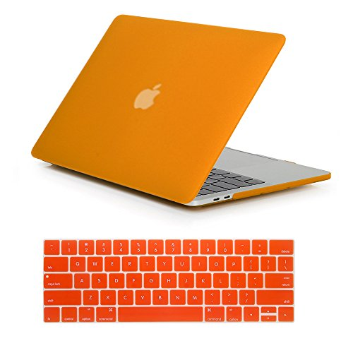 RYGOU Matte Plastic Hard Case Keyboard Cover for Newest MacBook Pro 13 Inch with Touch Bar Model:A1706 (Release in Oct 2016) -  New-13P-TB-M/ORG-2